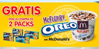 Consigue gratis un McFlurry Oreo en McDonald's