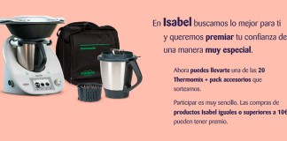 Isabel sortea 20 Thermomix + pack accesorios