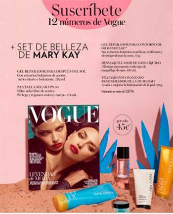 Regalos Revista Vogue suscripcion agosto Mary Kay