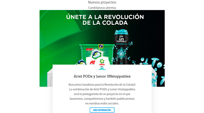 Prueba gratis Ariel Pods y Lenor con Próxima a ti