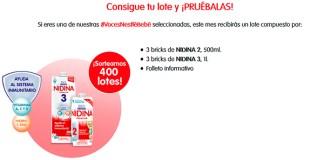 Voces Nestlé Bebé da a probar gratis Nidina 2 y 3