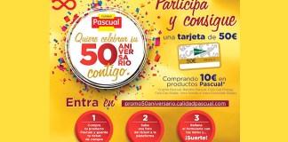 Consigue una tarjeta de 50 euros con Pascual