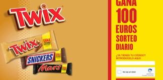 Sorteo diario de 100 euros con Twix