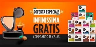 Cafetera Infinissima gratis comprando 16 cajas