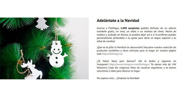 Disfruta de un adorno navideño gratis con Correos Sampling