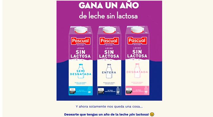 Gana un año de leche sin lactosa Pascual