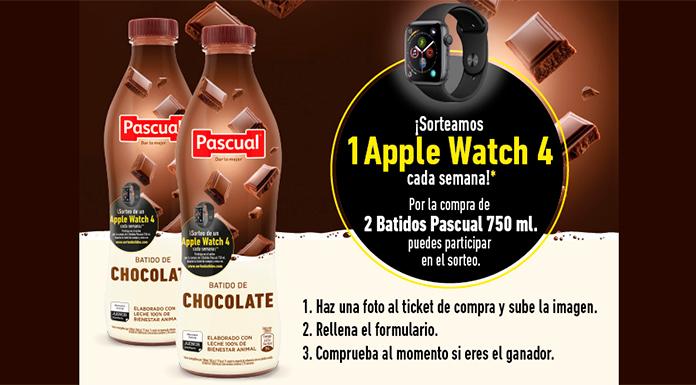Pascual sortea 1 Apple Watch 4 cada semana