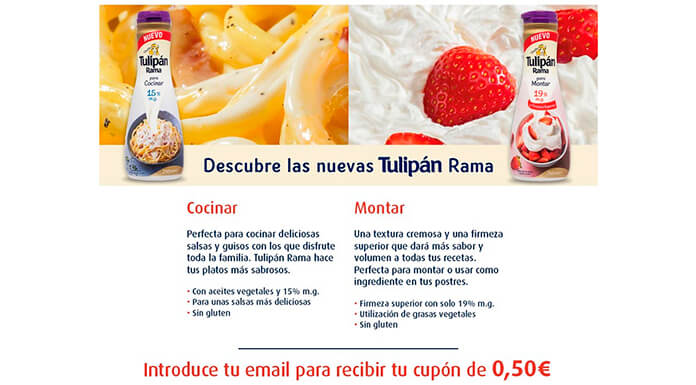 Cupón descuento de 0.50€ en Tulipan Rama