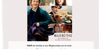 Gratis entradas de cine para ver Mujercitas con H&M