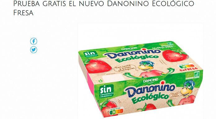 Prueba gratis el nuevo Danonino Ecológico Fresa