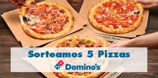 Sorteamos 5 pizzas de Domino's Pizza