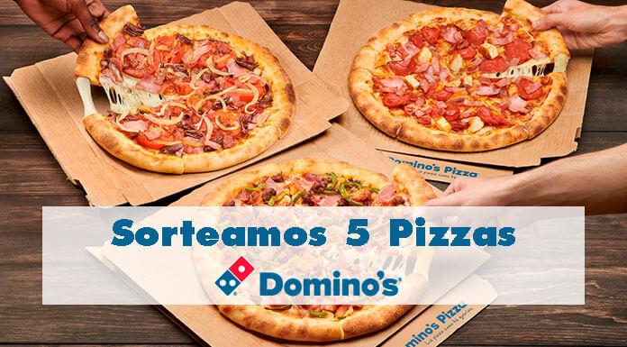 Sorteamos 5 pizzas de Domino's Pizza