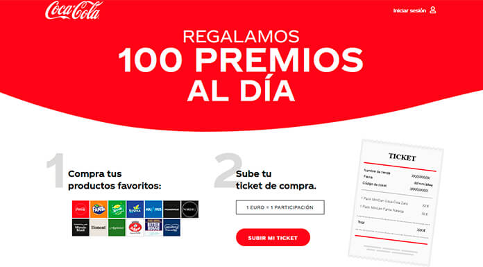 Coca Cola regala 100 premios al día