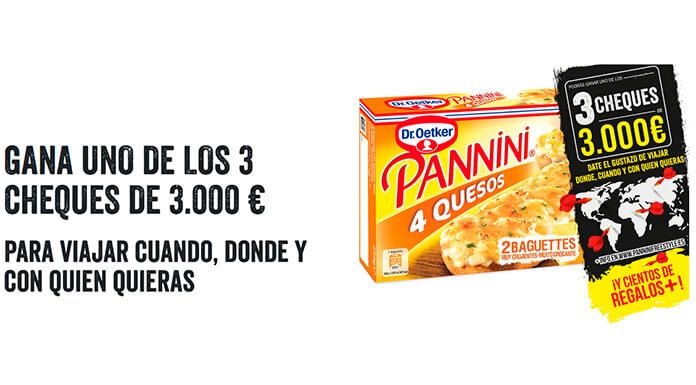 Dr.Oetker Panini sortea 3 cheques de 3.000 euros y otros regalos