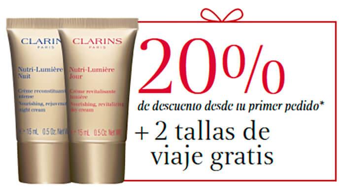 Llévate 2 muestras gratis de productos Clarins