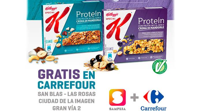 Muestras gratis de las barritas Special K Protein de Kellogg