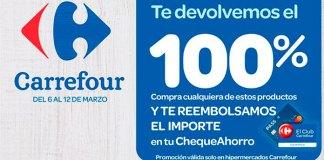 Acumula el 100% de tu compra en el cheque ahorro de Carrefour