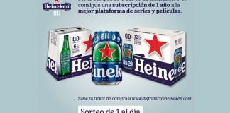Consigue una suscripción a plataformas de series y películas con Heineken 0'0