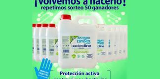 Instituto Español vuelve a sortear 50 garrafas de Bacteroline