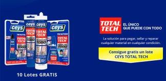 Sortean 10 lotes de productos Ceys Total Tech