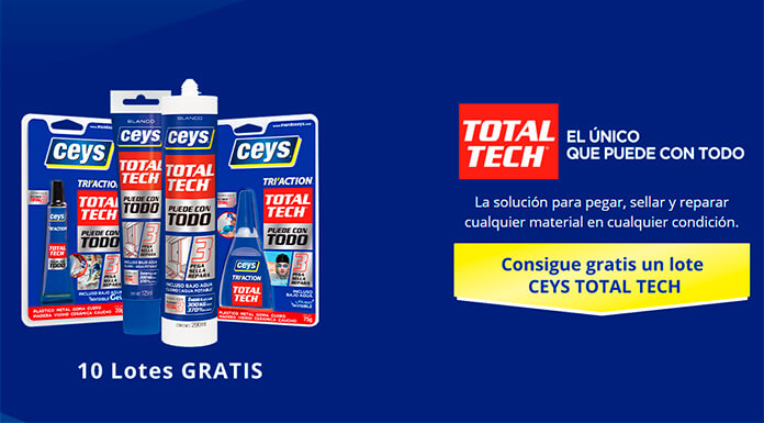 Sortean 10 lotes de productos Ceys Total Tech