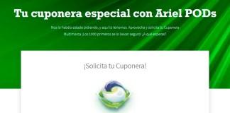 Gratis cuponeras especiales con Ariel Pods
