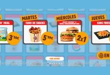 Ofertas de Burger King en casa para la desescalada