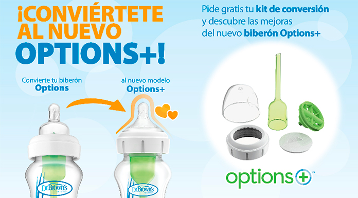 Pide gratis tu kit de conversión Options+ de Dr. Brown's