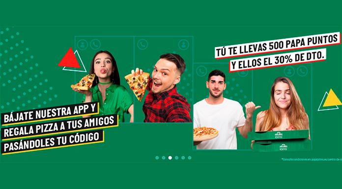 Pizzas gratis para tus amigos en Papa John's