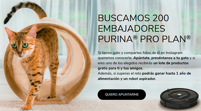 Buscan 200 embajadores Purina Pro Plan