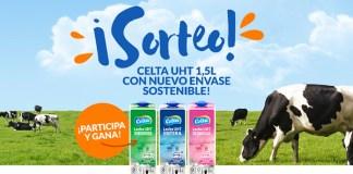 Sortean 5 packs de leche Celta con nuevo envase