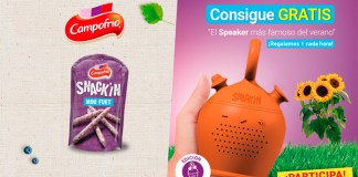 Consigue gratis un speaker con Snack'In de Campofrío
