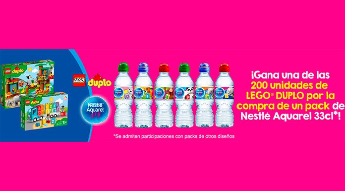 Nestlé Aquarel sortea 200 unidades de Lego Duplo
