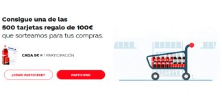 Coca Cola reparte 500 tarjetas regalo
