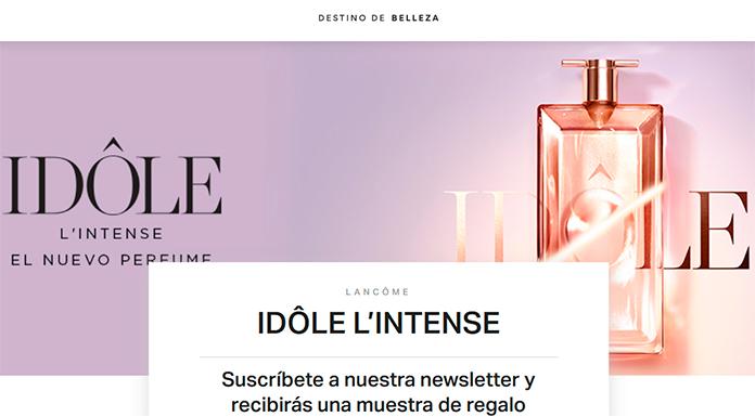Muestras gratis del perfume Idôle L'Intense