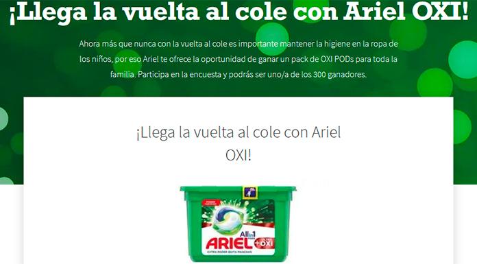 Gana un pack de Ariel OXI PODs