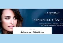 Muestras gratis de Advanced Génifique de Lancôme a domicilio