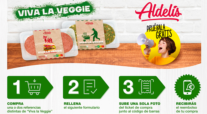 Prueba gratis las hamburguesas vegetarianas de Aldelis