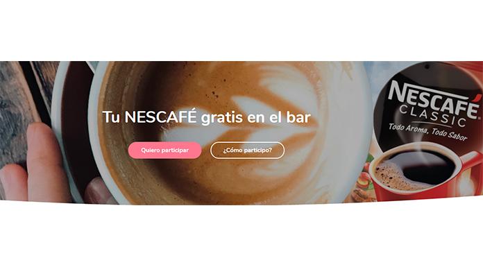 Prueba gratis Nescafé en el bar