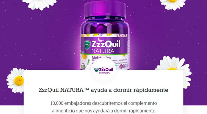 Prueba gratis ZzzQuil Natura con Próxima a ti