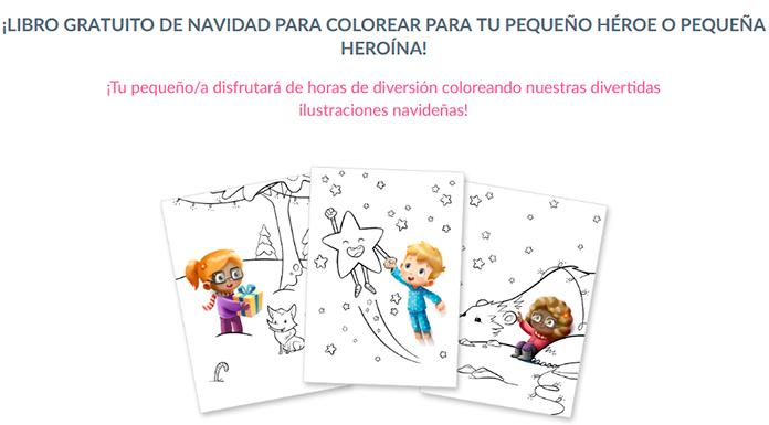 Libro gratis de Navidad para colorear Hurra Héroes