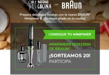 Nestlé Cocina sortea 20 Minipimer de Braun
