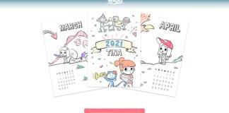 Calendario personalizado gratis con Hurra Héroes