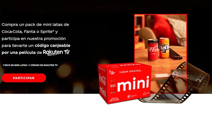 Películas gratis con Coca Cola