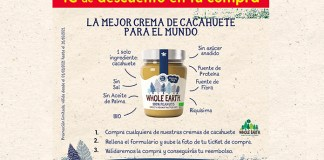 1 euro de descuento en Whole Earth