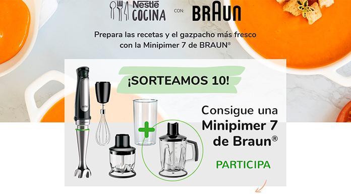 Nestlé sortea 10 Minipimer 7 de Braun