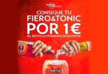 Prueba Martini Fiero & Tonic por 1 euro