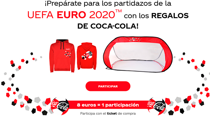 Regalos UEFA EURO 2020 de Coca Cola