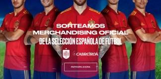 Sorteo de regalos de la Selección Española de Futbol de Cabreiroa