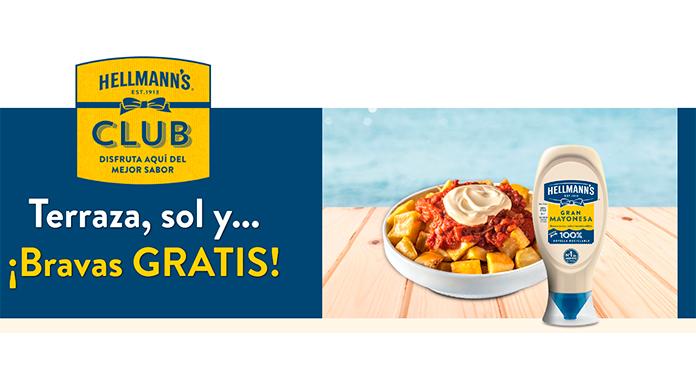 Prueba gratis patatas bravas Hellmann's